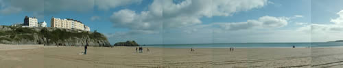 Tenby Panorama from the beach.