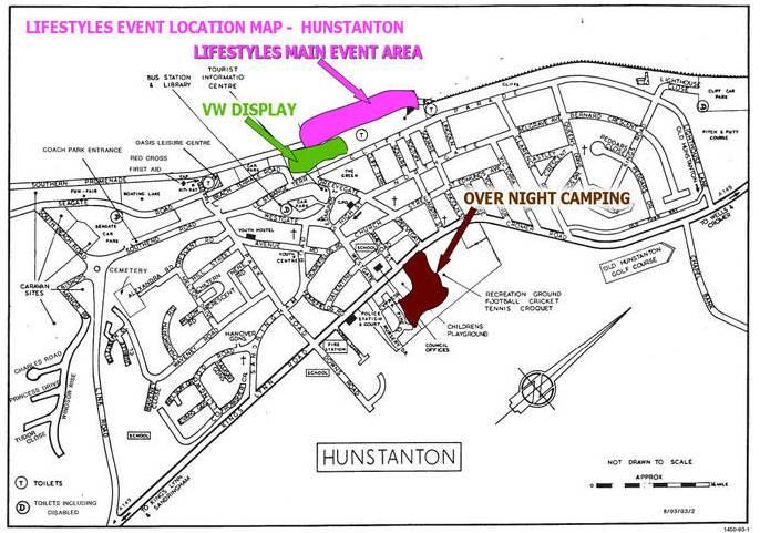 Map of Hunstanton venue.