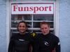 Ben Prffitt and Andy King outside Funsport