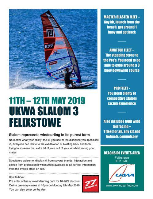 Slalom 3 - 77sports - Felixstowe Sea Front, Event information   UK