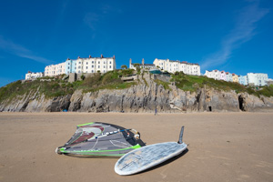 Windsurfing at Tenby