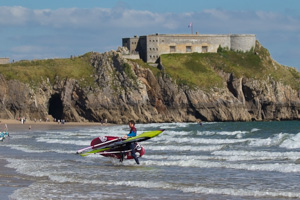 Jim lands at Tenby