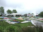 Windsurf kit in front of the RYA and UKWA tents.
