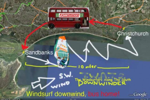 Sandbanks to Christcurch Journey